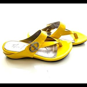 Marc Fisher Patent Leather Sandals